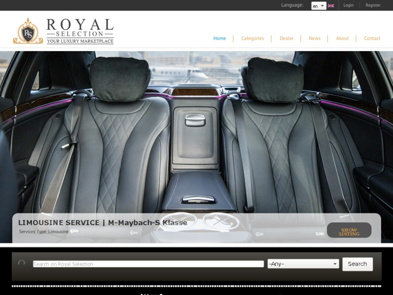Royal Selection - luxury marketplace