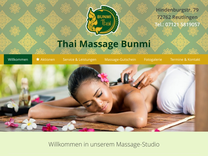 Website Thai-Massage Salon