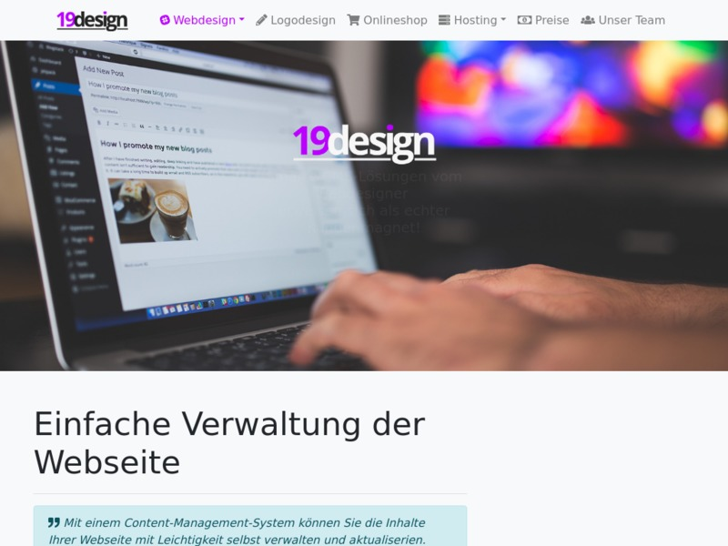 CMS-Webdesign mit Wordpress, Joomla und co