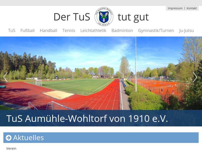 Mobiles Webdesign - Sportverein
