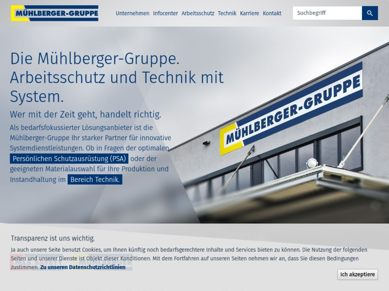 Mühlberger Gruppe Website