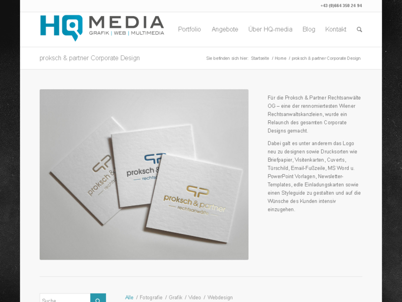 Proksch & Partner Corporate Design