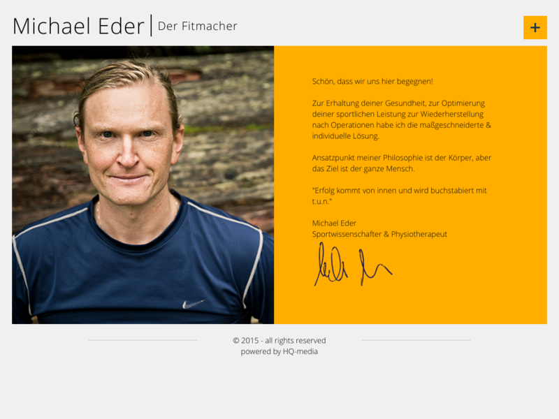 Webseite Physiotherapeut Michael Eder