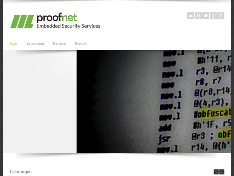 Webdesign - Proofnet