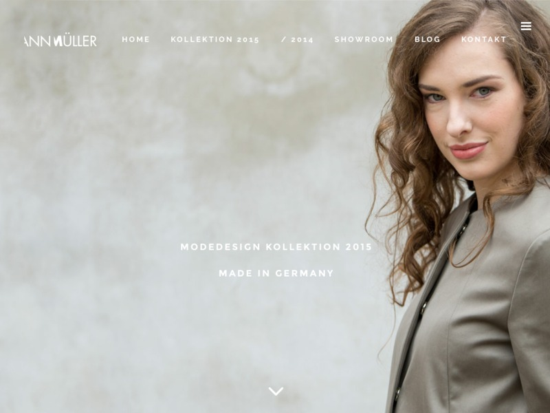 Showroom / Website für die Modedesignerin Ann Müller